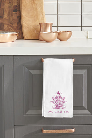 """Om Sweet Om"" Tea Towel by OneBellaCasa"