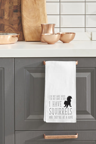 """Squirrels"" Tea Towel by OneBellaCasa"
