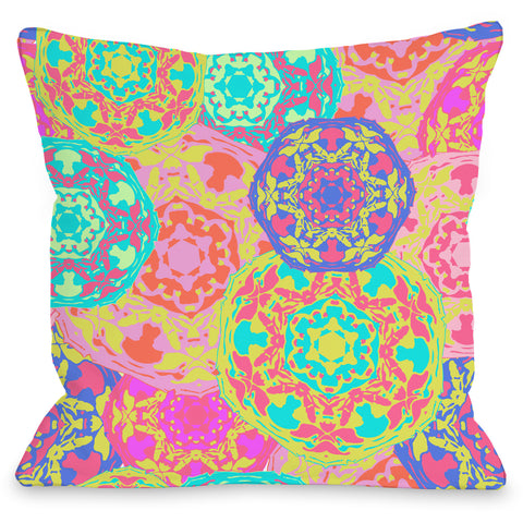 """Coachella"" Outdoor Throw Pillow by OneBellaCasa, 16""x16"""