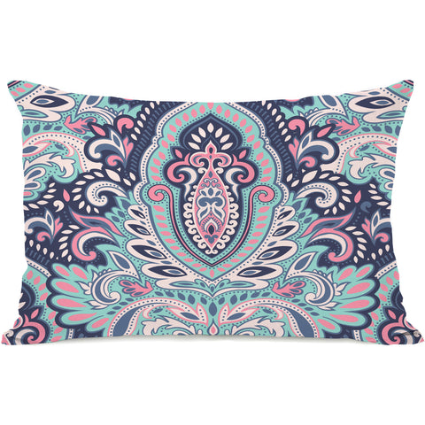 """Mindi"" Outdoor Throw Pillow by OneBellaCasa, 14""x20"""