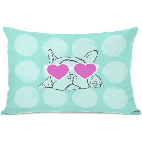 """Puppy Love"" Indoor Throw Pillow by OneBellaCasa, 14""x20"""
