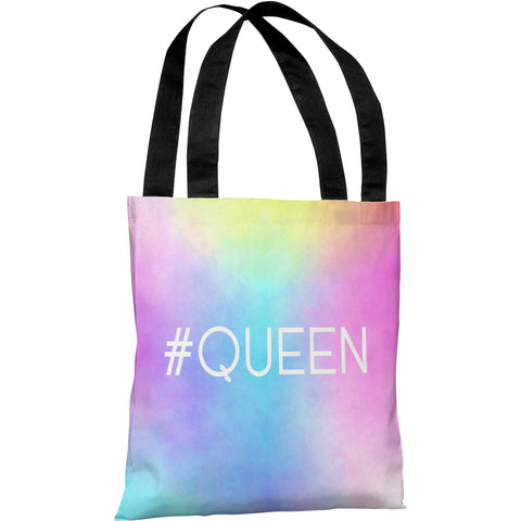 """Hashtag Queen"" 18""x18"" Tote Bag by OneBellaCasa"