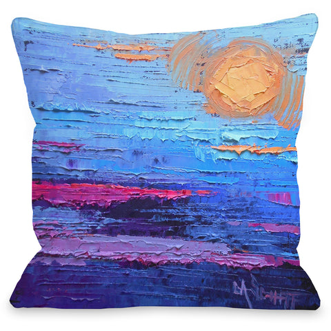 """Moon Over Miami"" Indoor Throw Pillow by Carol Schiff, 16""x16"""