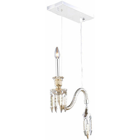 "Majestic 14"" Diam Chandelier, Golden Teak Crystal, Elegant Cut"