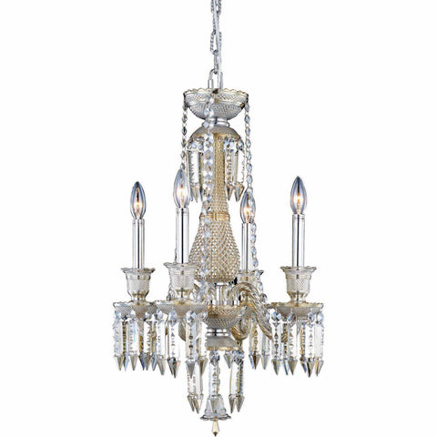 "Majestic 17"" Diam Chandelier, Golden Teak Crystal, Elegant Cut"