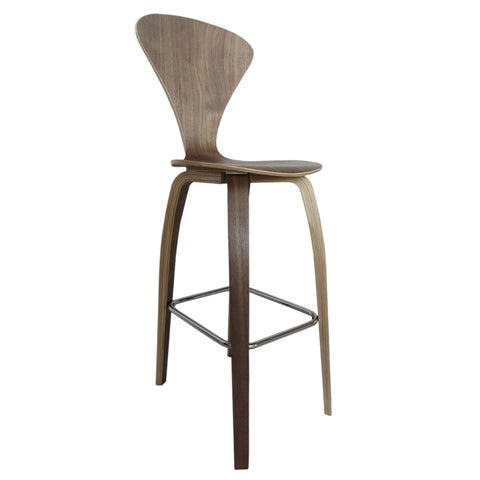 "Wooden Bar Chair 30"", Walnut"