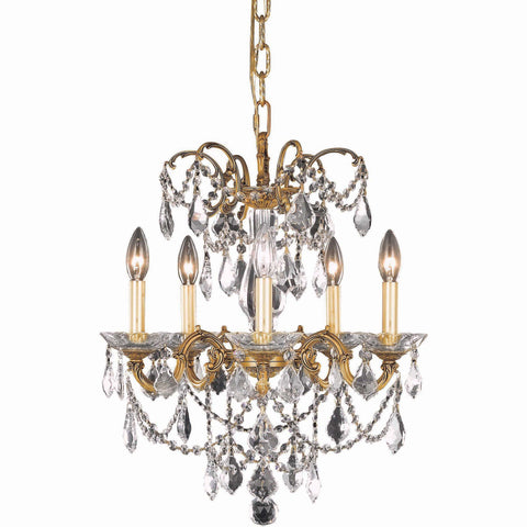 "Athena 18"" Diam Chandelier, French Gold, Clear Crystal, Elegant Cut"