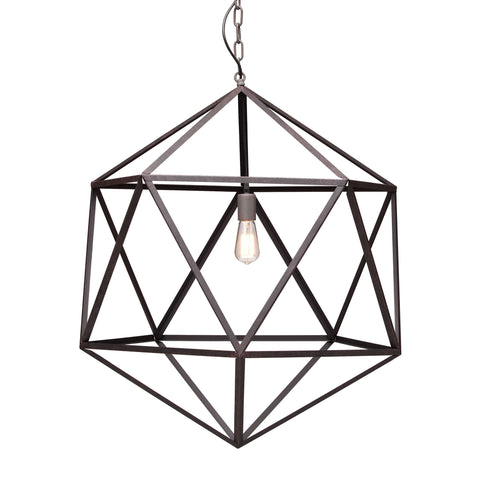 Amethyst Ceiling Lamp Large Rust