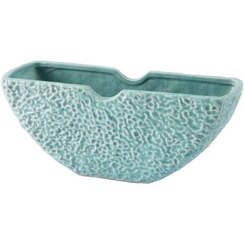 Matte Green Lineal Half Moon Bowl