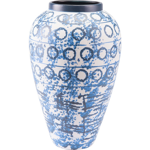Blue & White Ree Vase, Large