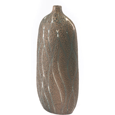 Brown & Green Lava Vase, Large