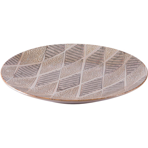 Brown Ikat Plate