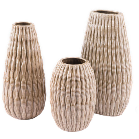Taupe Marino Vase, Medium