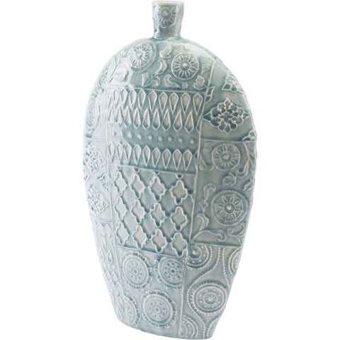 Blue Medallion Vase, Large
