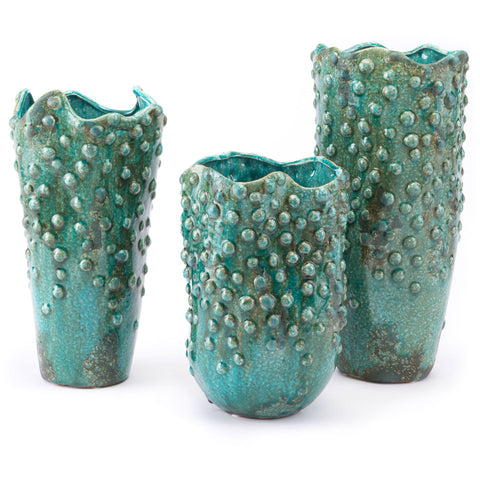 Green Drop Vase, Medium