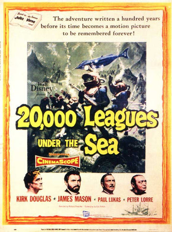 20,000 Leagues Under the Sea 11x17 Movie Poster (1954)