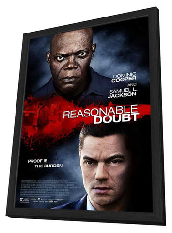 Reasonable Doubt 27x40 Framed Movie Poster (2014)