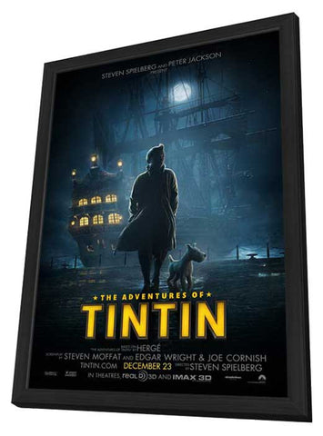 The Adventures of Tintin: The Secret of the Unicorn 11x17 Framed Movie Poster (2011)