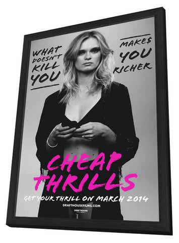 Cheap Thrills 11x17 Framed Movie Poster (2014)