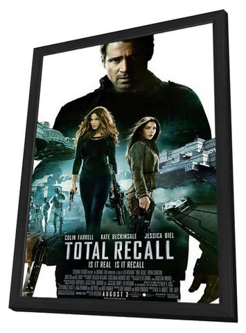 Total Recall 11x17 Framed Movie Poster (2012)