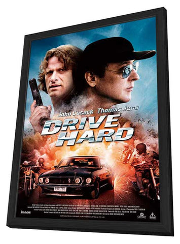 Drive Hard 11x17 Framed Movie Poster (2014)