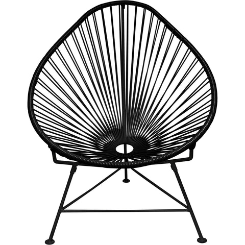 Acapulco Vinyl Cord Chair, Black Frame