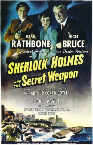 Sherlock Holmes and the Secret Weapon 11x17 Movie Poster (1942)