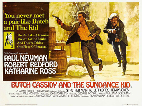 Butch Cassidy and the Sundance Kid (UK) 30x40 Movie Poster (1969)