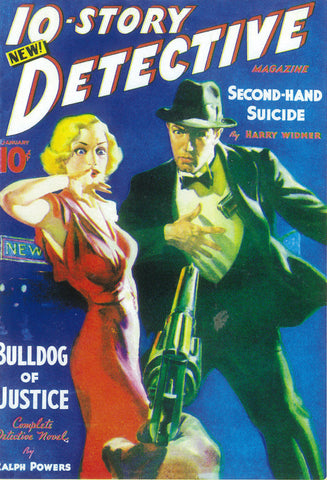 10-Story Detective Magazine 11x17 Pulp Poster (1938)