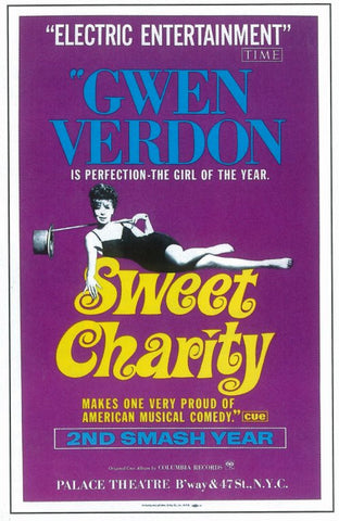 Sweet Charity 11x17 Broadway Show Poster (1966)