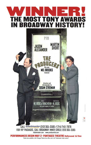 The Producers 11x17 Broadway Show Poster