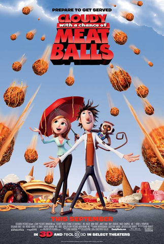 Cloudy with a Chance of Meatballs 11x17 Movie Poster (2009)