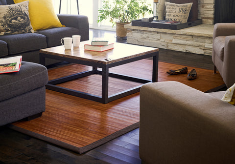 Contemporary Chocolate Bamboo Rug
