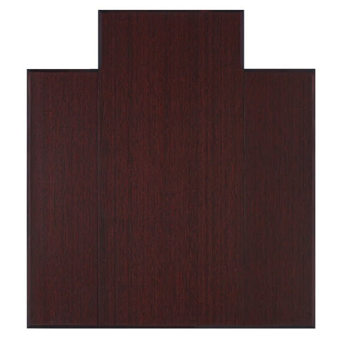 "Bamboo Tri-Fold Chairmat, 47"" x 51"", with lip"