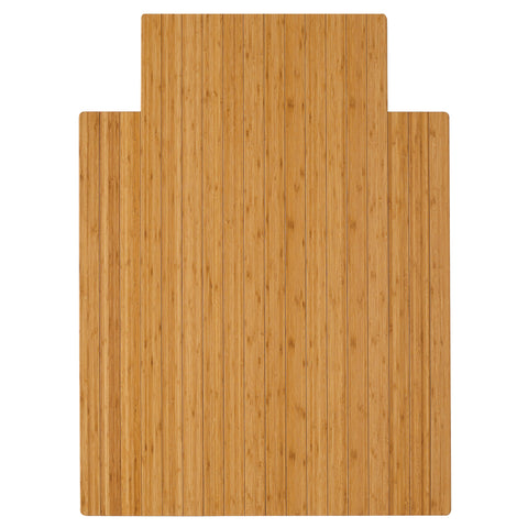 "Bamboo Roll-Up Chairmat, 36"" x 48"", with lip"