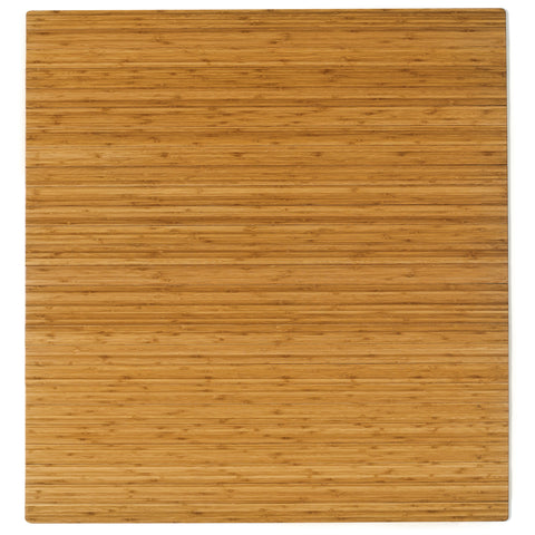 "Bamboo Roll-Up Chairmat, 52"" x 48"", no lip"