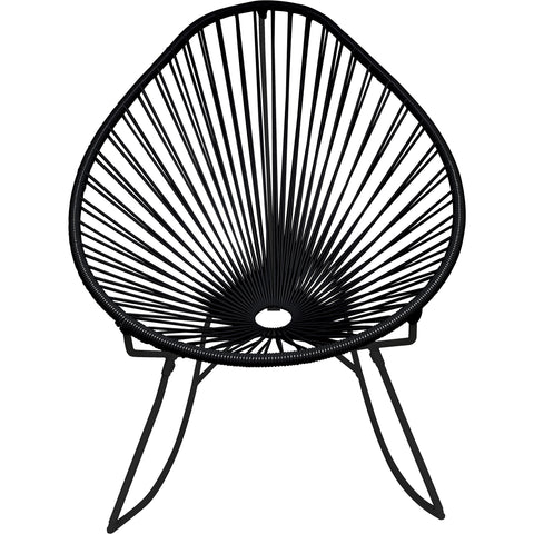 Acapulco Vinyl Cord Rocker Chair, Black Frame