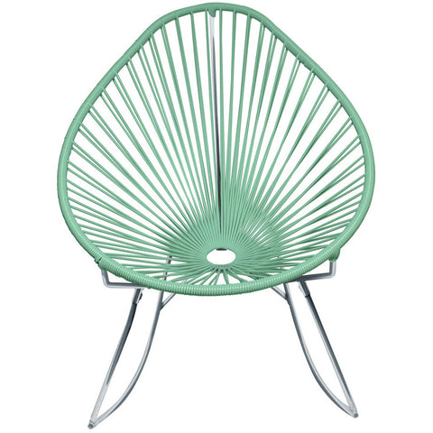 Acapulco Vinyl Cord Rocker Chair, Chrome Frame