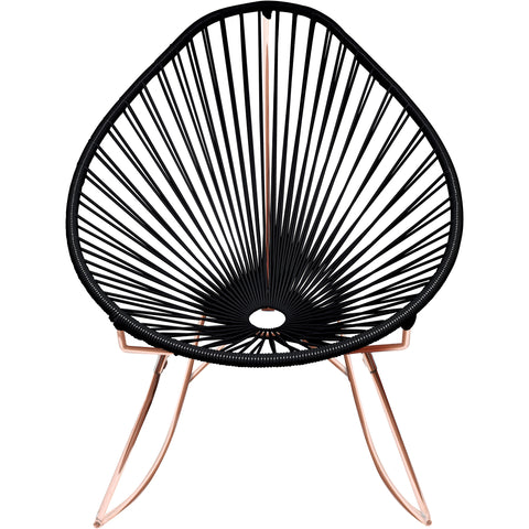 Acapulco Vinyl Cord Rocker Chair, Copper Frame