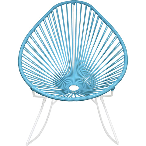 Acapulco Vinyl Cord Rocker Chair, White Frame