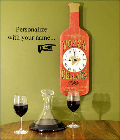 Personalized Cellars Bottle Shaped Clock