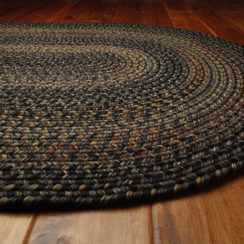 Black Forest Braided Indoor/Outdoor Ultra Durable Oval Rug