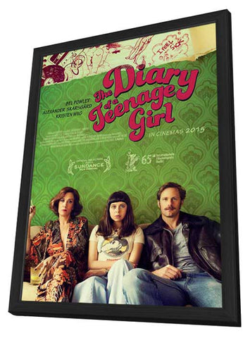 The Diary of a Teenage Girl (UK) 27x40 Framed Movie Poster (2015)