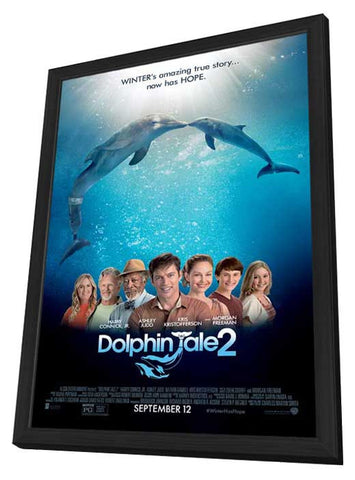 Dolphin Tale 2 27x40 Framed Movie Poster (2014)