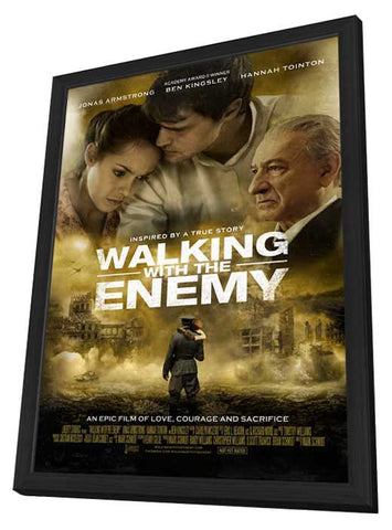 Walking with the Enemy 27x40 Framed Movie Poster (2014)