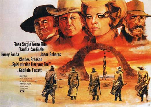 Once Upon a Time in the West (German) 22x28 Movie Poster (1968)