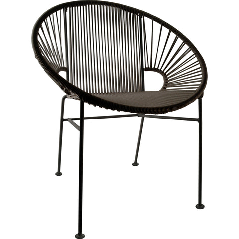 Concha Vinyl Cord Chair, Black Frame