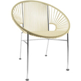 Concha Vinyl Cord Chair, Chrome Frame