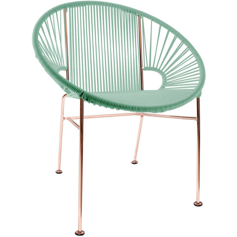 Concha Vinyl Cord Chair, Copper Frame