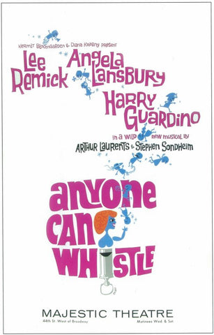 Anyone Can Whistle 14x22 Broadway Show Poster (1964)